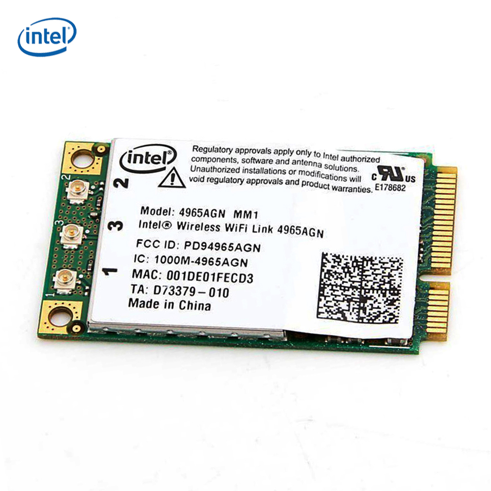 Intel Kablosuz WiFi link 4965AGN MM1Mini PCI-E 300 Mbps 4965AGN_MM1 Laptop Wlan Kartı Ağ kartı