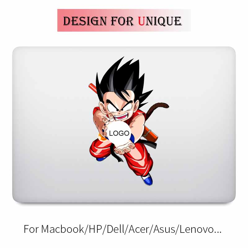 Kamehameha Goku Dragon Ball Laptop Sticker Apple Macbook Çıkartması için Pro hava Retina 11 12 13 15 inç Vinil Mac Yüzey Kitap cilt