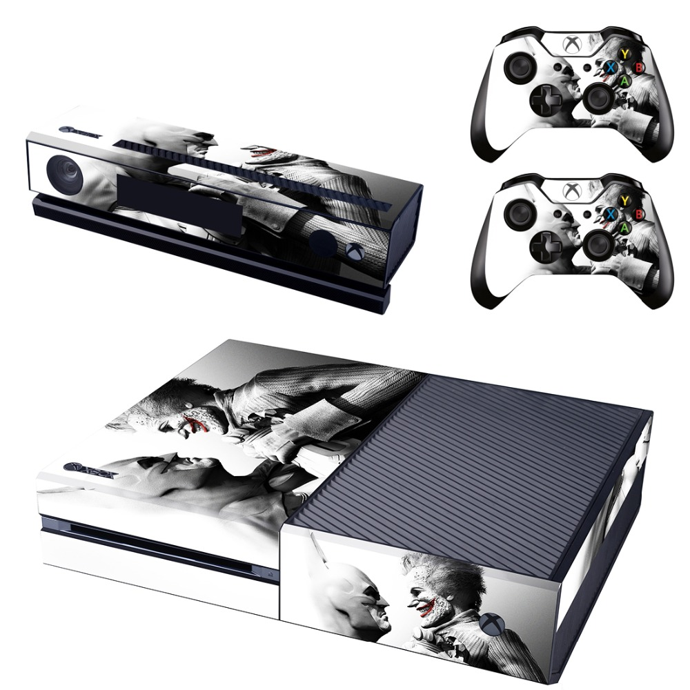 VS Batman Joker Vinil Kapak Cilt Sticker Xbox One & Kinect ve 2 kontrolör skins için