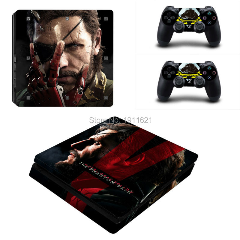 OSTSTICKER Metal Gear Solid Playstation 4 Slim Için Cilt Kapak Koruyucu Vinil Sticker PS4 Slim Konsol Gamepad Için Skins