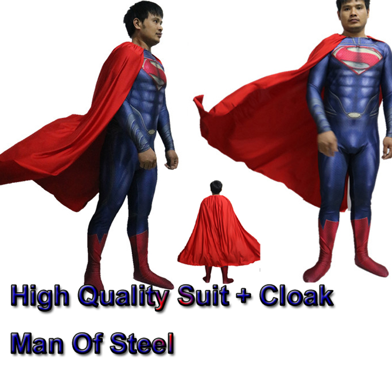 Film coser-5 yüksek kalite custom made süper hero man of steel superman kostüm film superman kostüm yetişkin spandex lacya suit